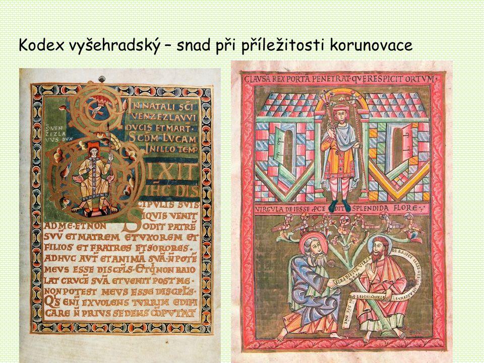 Kodex vyšehradský – snad při příležitosti korunovace