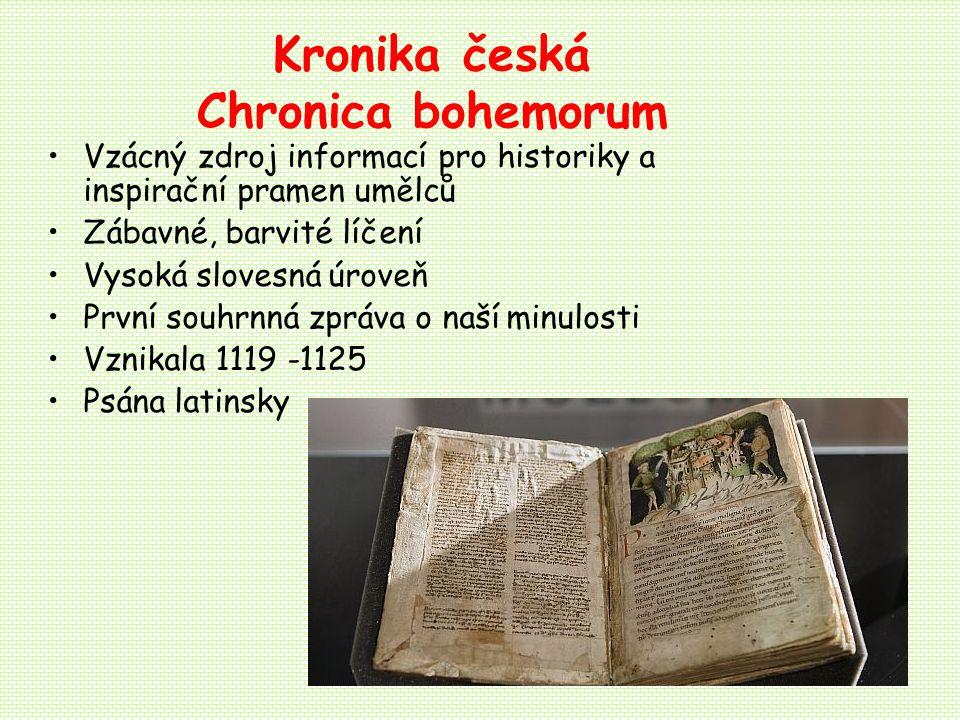 Kronika česká Chronica bohemorum