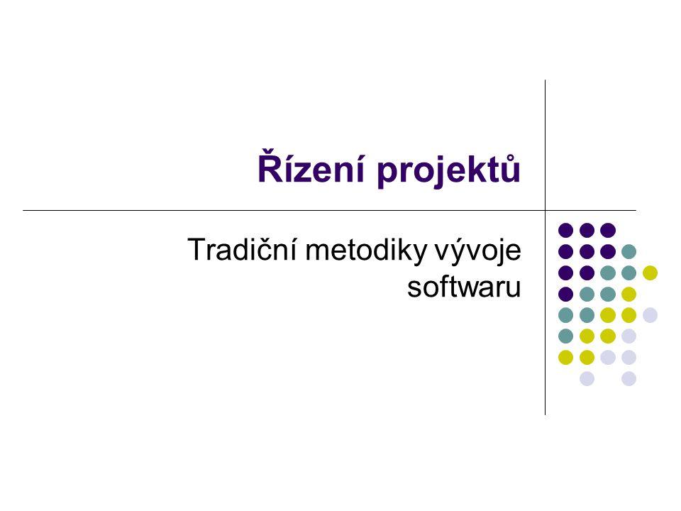 Tradiční metodiky vývoje softwaru
