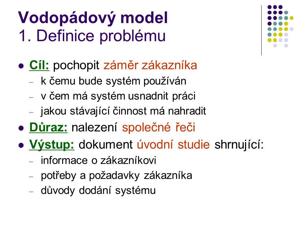 Vodopádový model 1. Definice problému