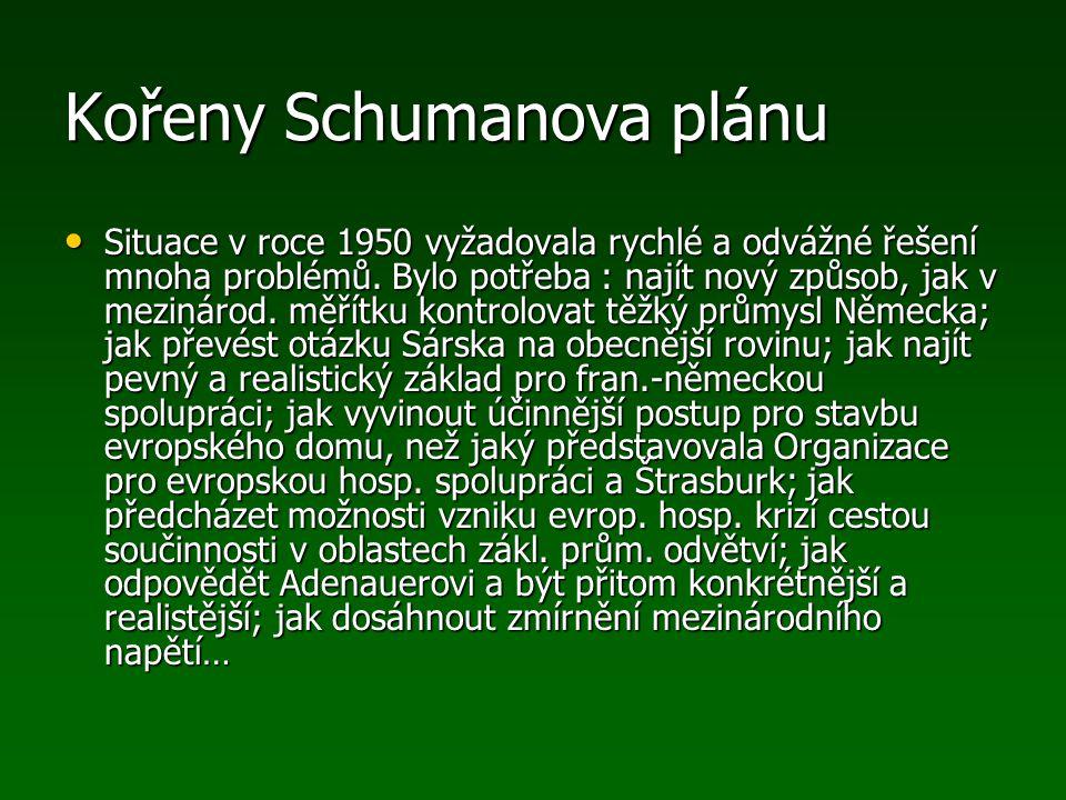 Kořeny Schumanova plánu