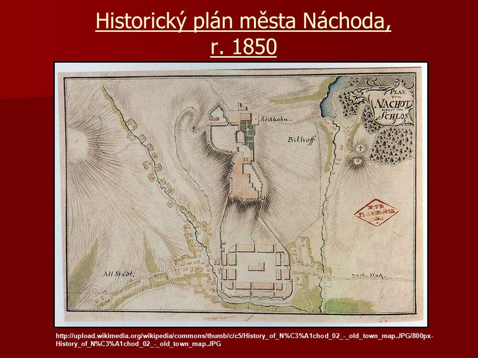 Historický plán města Náchoda, r. 1850