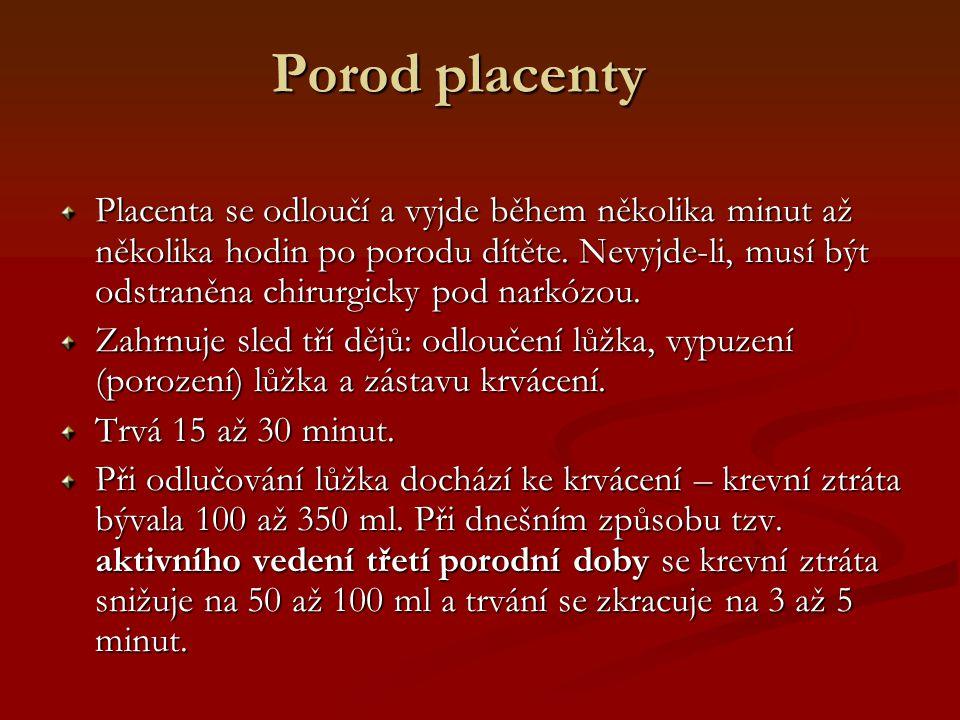 Porod placenty