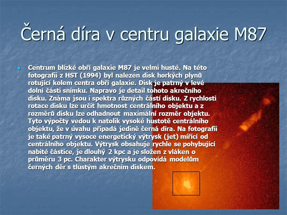 Černá díra v centru galaxie M87