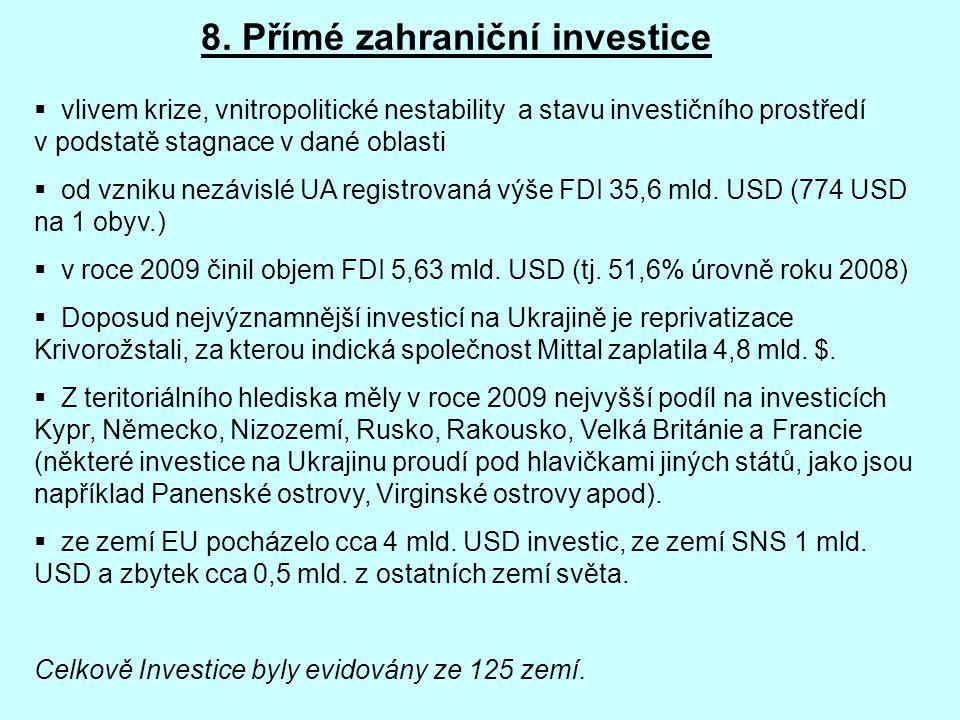 8. Přímé zahraniční investice