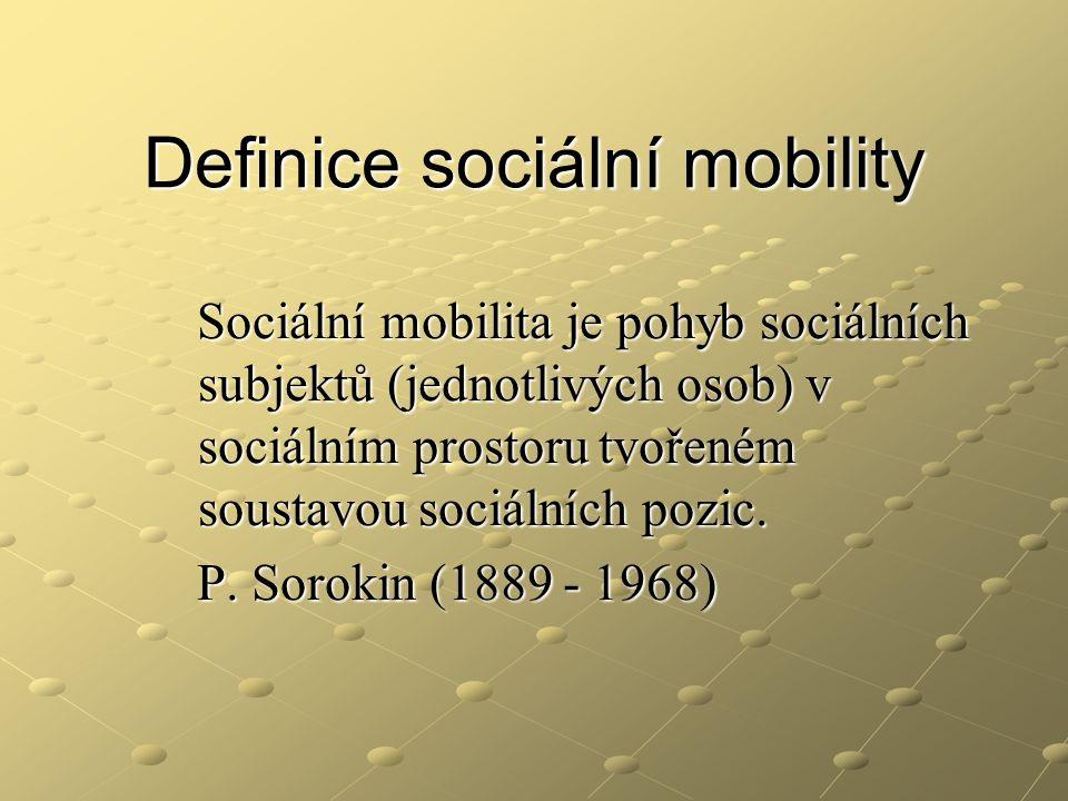Definice sociální mobility