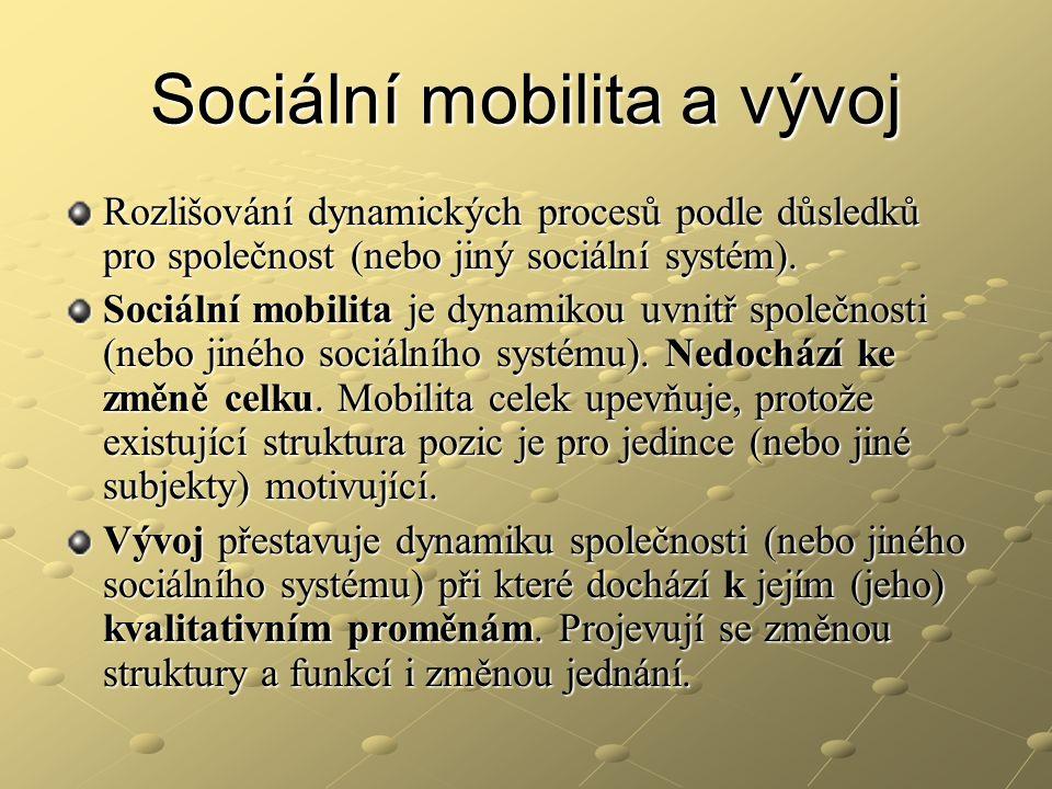Sociální mobilita a vývoj