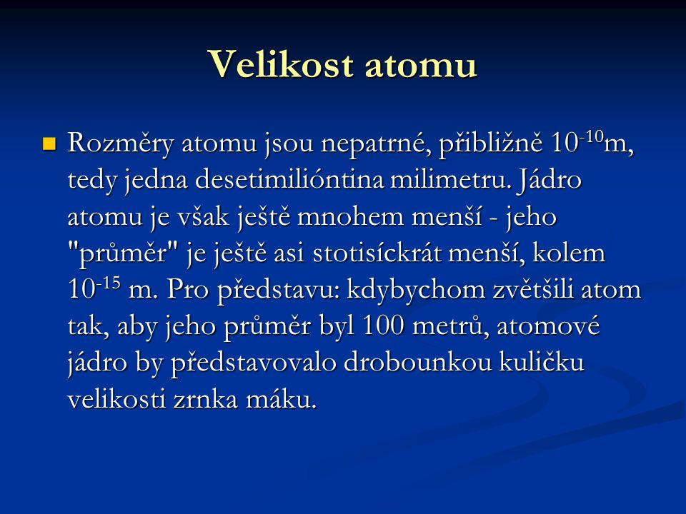 Velikost atomu