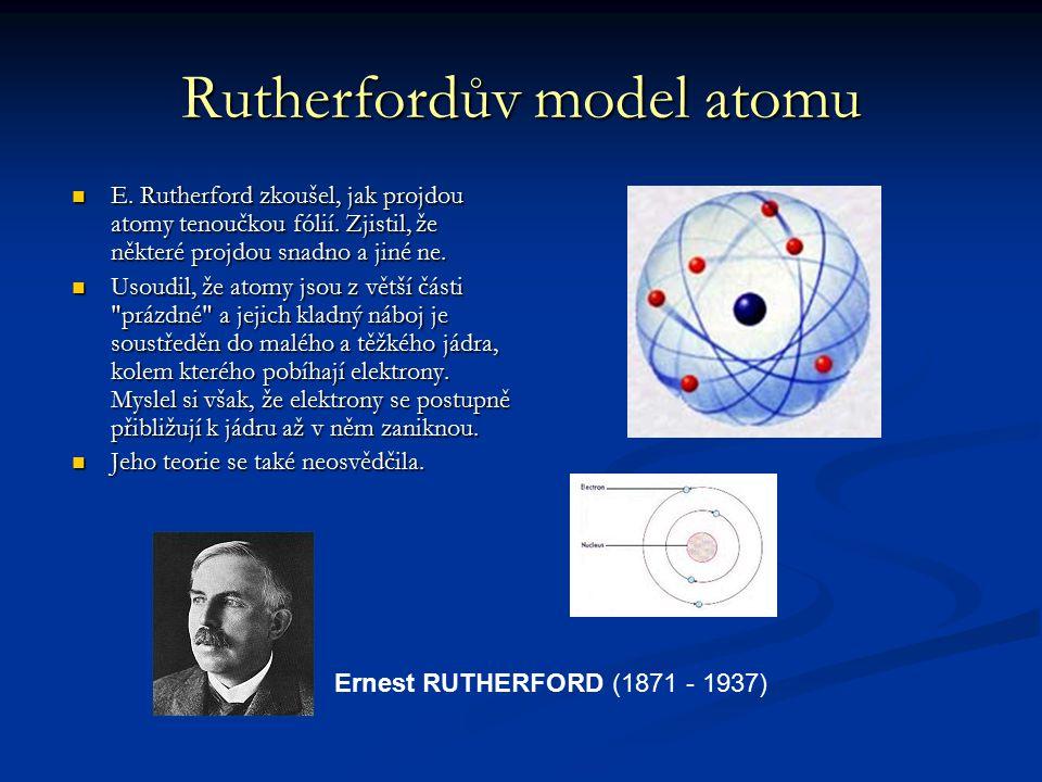 Rutherfordův model atomu
