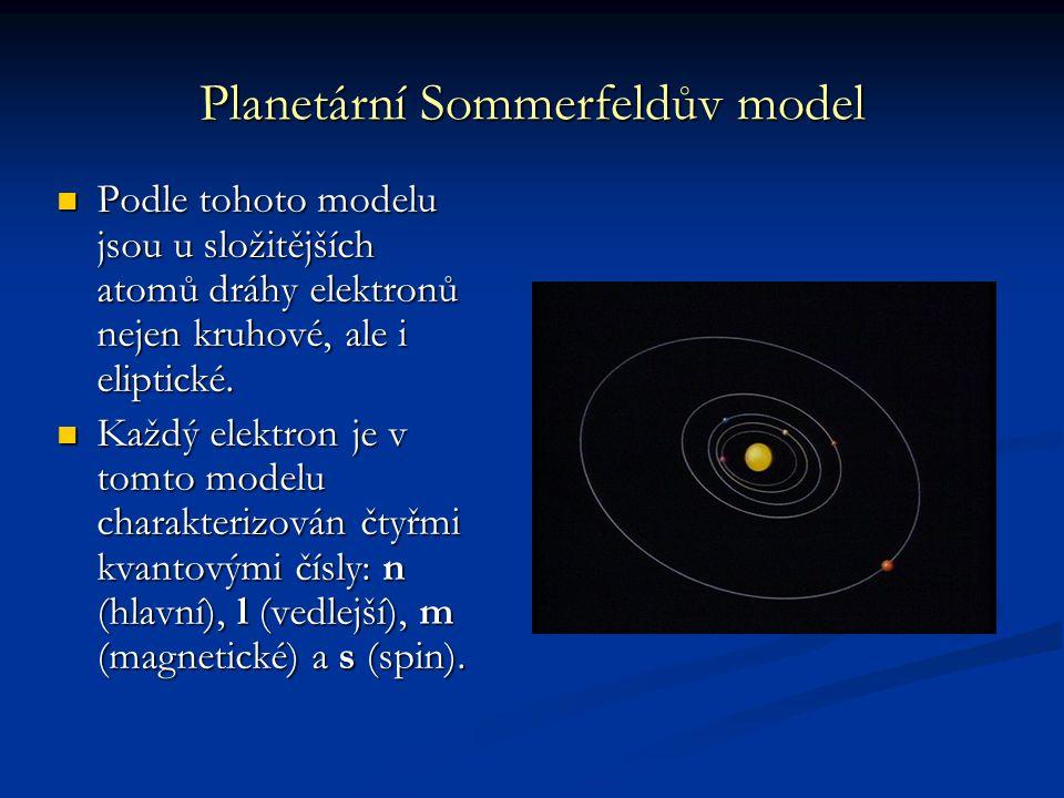 Planetární Sommerfeldův model