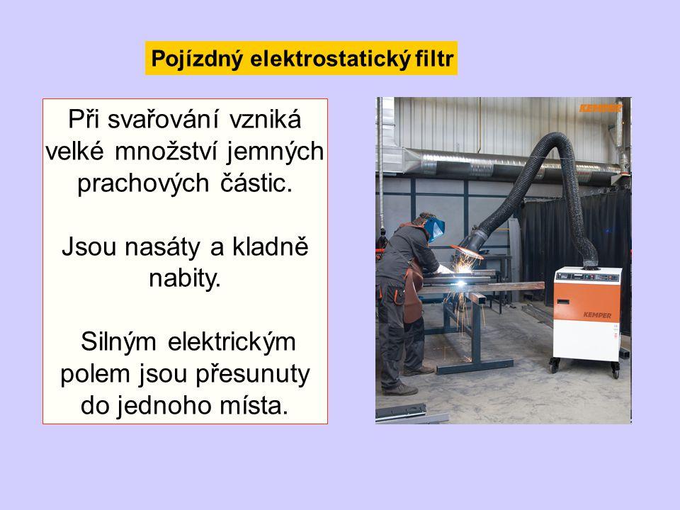 Při svařování vzniká velké množství jemných prachových částic.