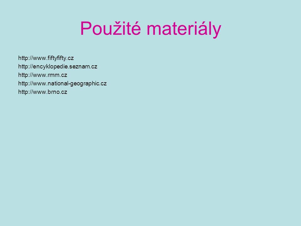 Použité materiály http://www.fiftyfifty.cz
