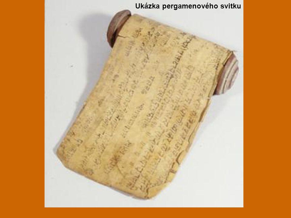Ukázka pergamenového svitku