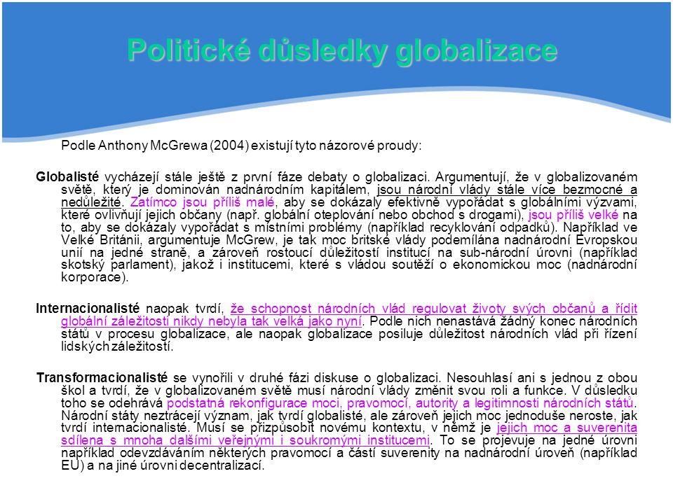 Politické důsledky globalizace