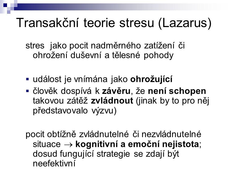 Transakční teorie stresu (Lazarus)