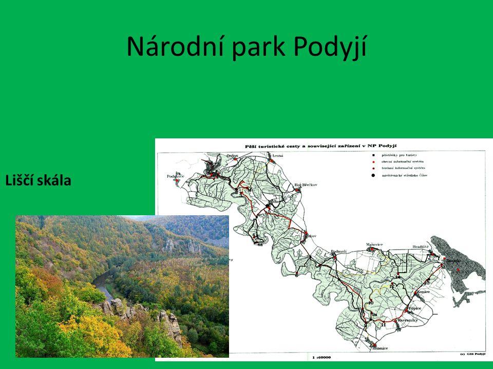 Národní park Podyjí Liščí skála