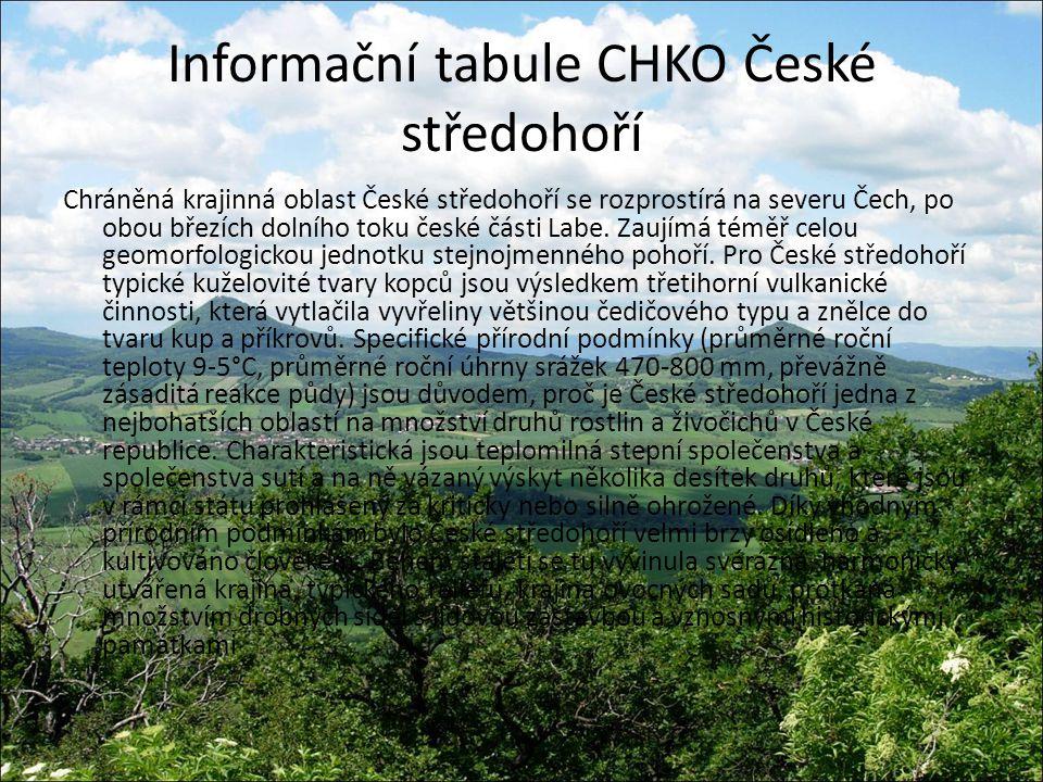 Informační tabule CHKO České středohoří