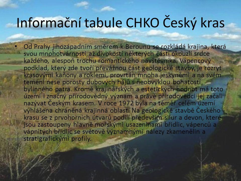 Informační tabule CHKO Český kras