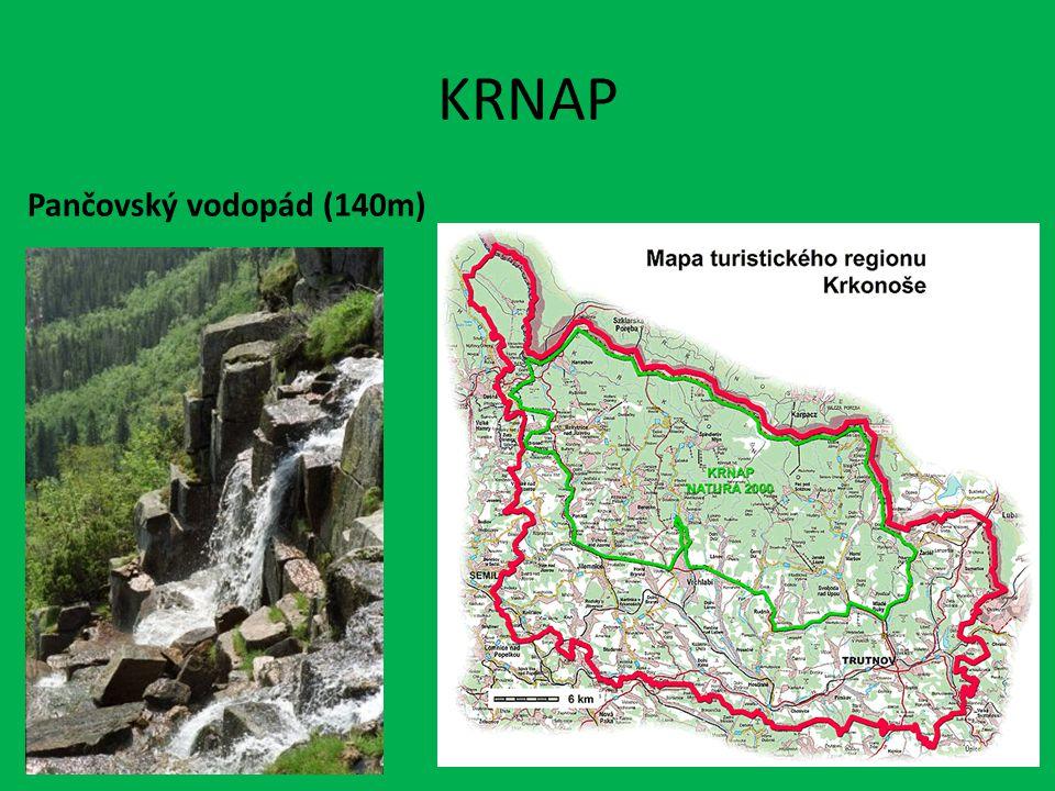 KRNAP Pančovský vodopád (140m)