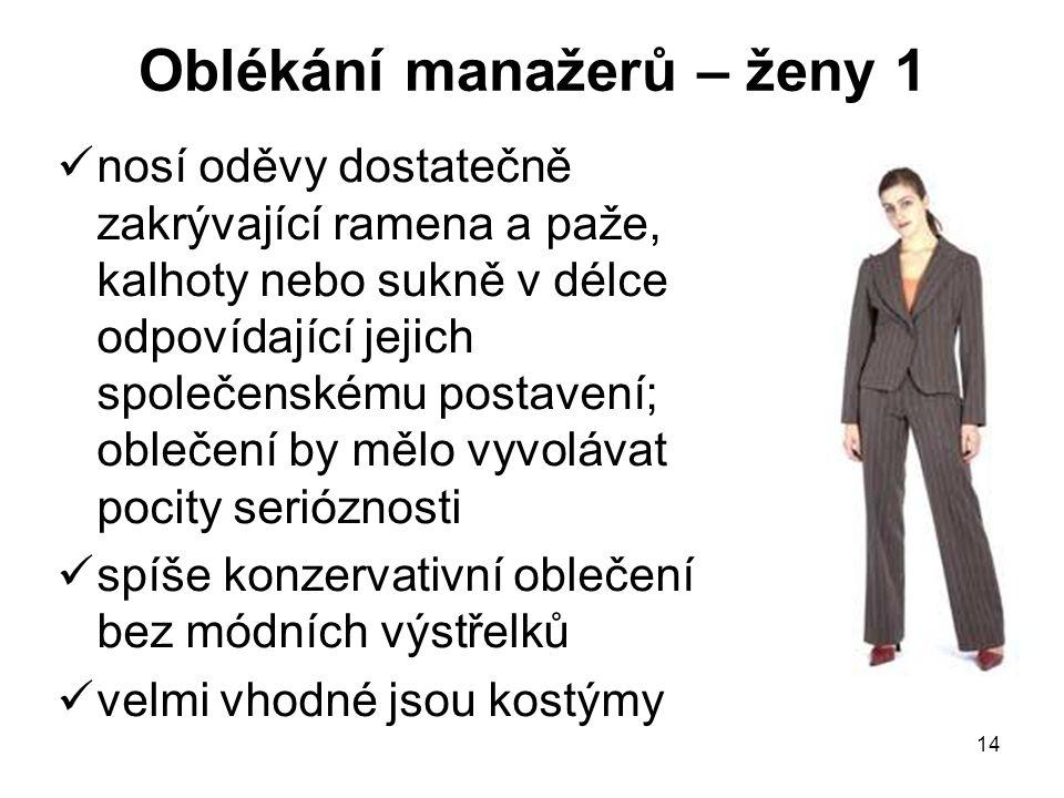 Oblékání manažerů – ženy 1