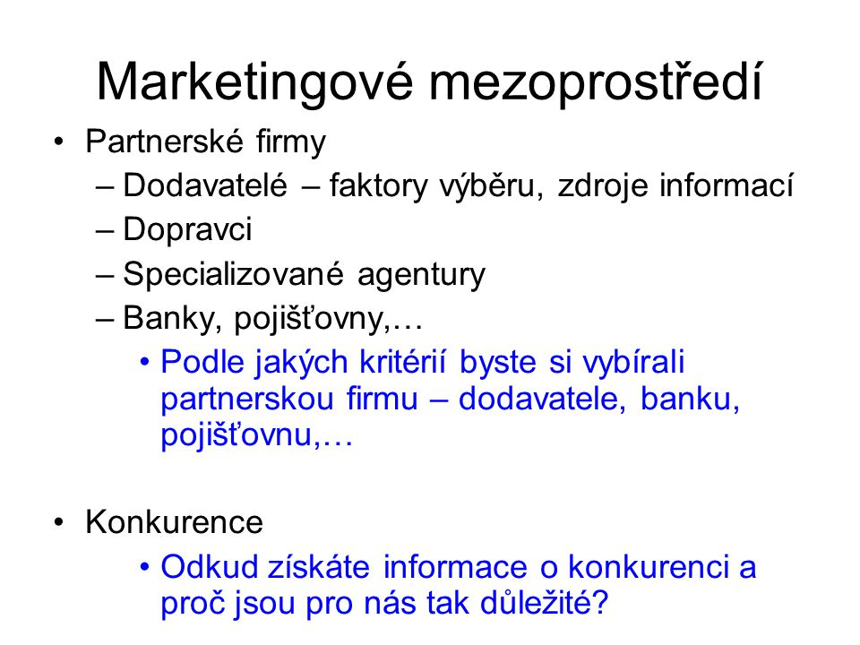 Marketingové mezoprostředí