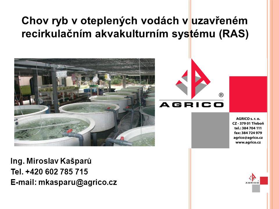 Chov ryb v oteplených vodách v uzavřeném recirkulačním akvakulturním systému (RAS)