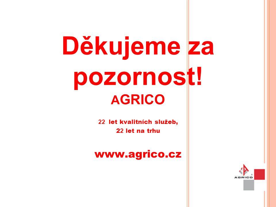 Děkujeme za pozornost! AGRICO