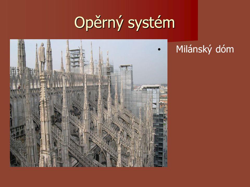 Opěrný systém Milánský dóm