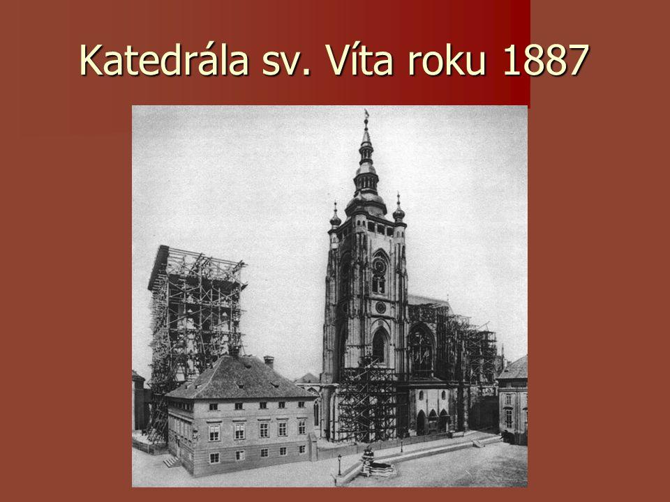 Katedrála sv. Víta roku 1887