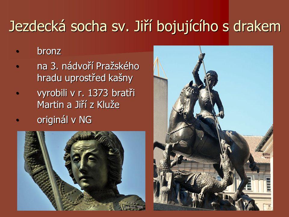 Jezdecká socha sv. Jiří bojujícího s drakem