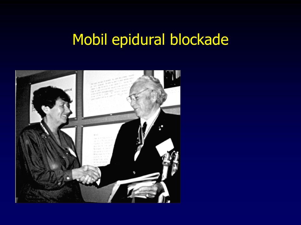 Mobil epidural blockade