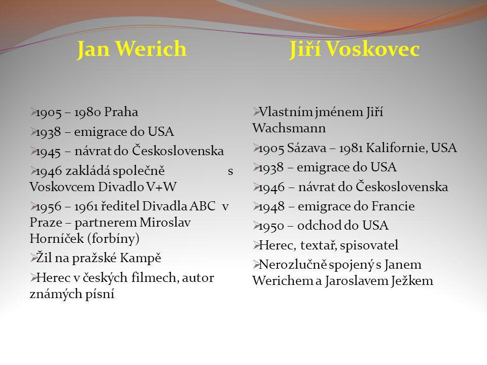 Jan Werich Jiří Voskovec