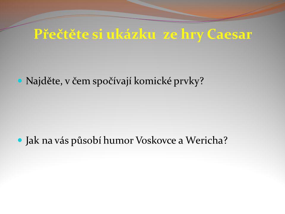 Přečtěte si ukázku ze hry Caesar