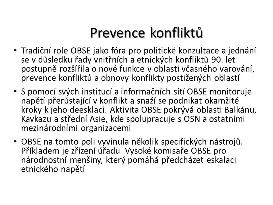 Prevence konfliktů