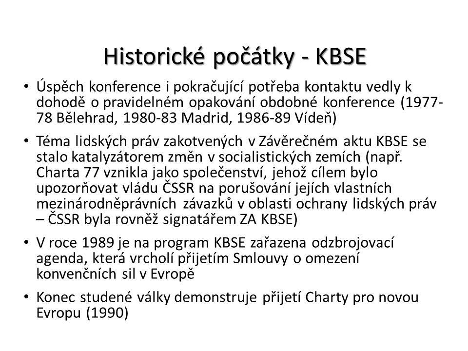 Historické počátky - KBSE