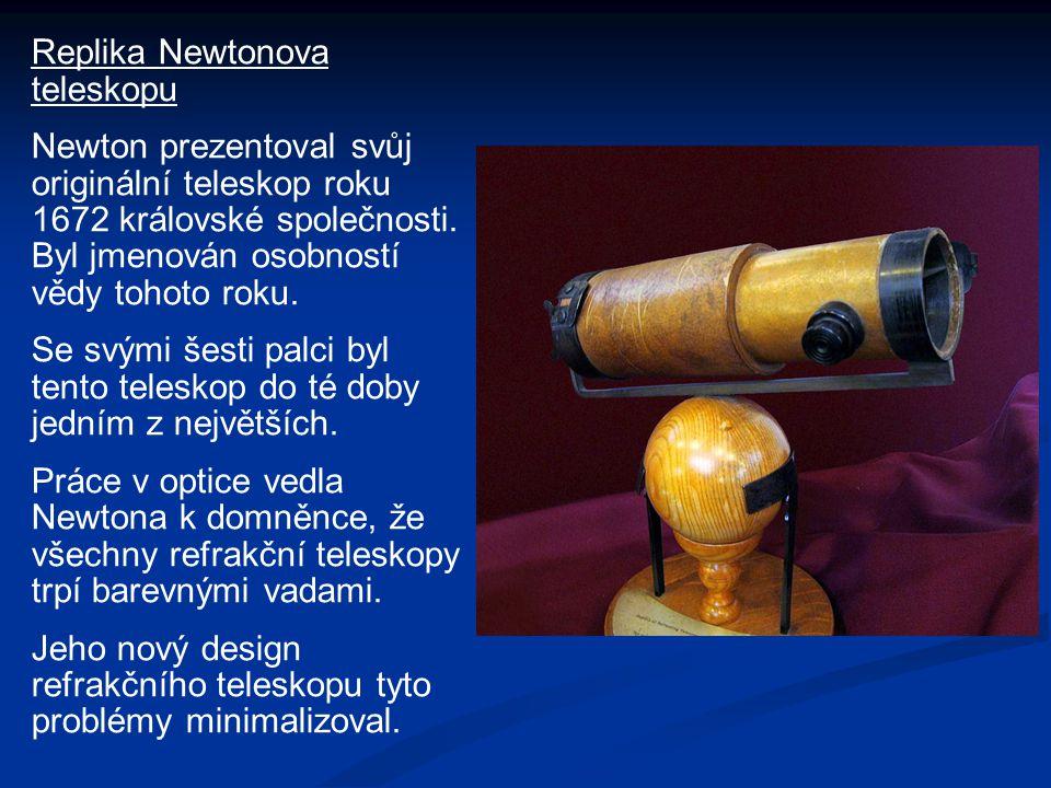 Replika Newtonova teleskopu