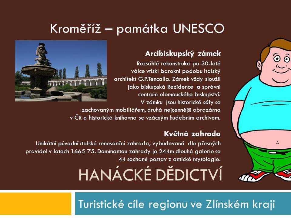Turistické cíle regionu ve Zlínském kraji