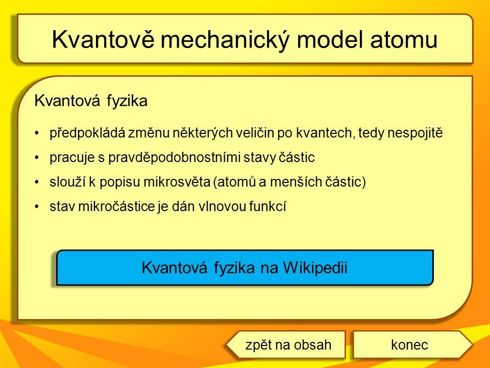 Kvantově mechanický model atomu
