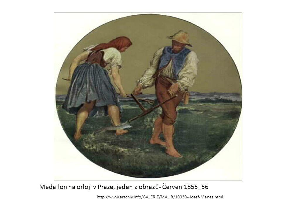 Medailon na orloji v Praze, jeden z obrazů- Červen 1855_56