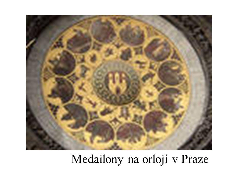 Medailony na orloji v Praze