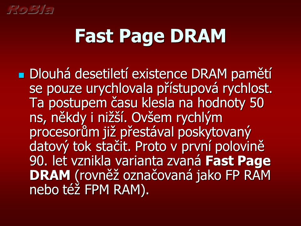 Fast Page DRAM
