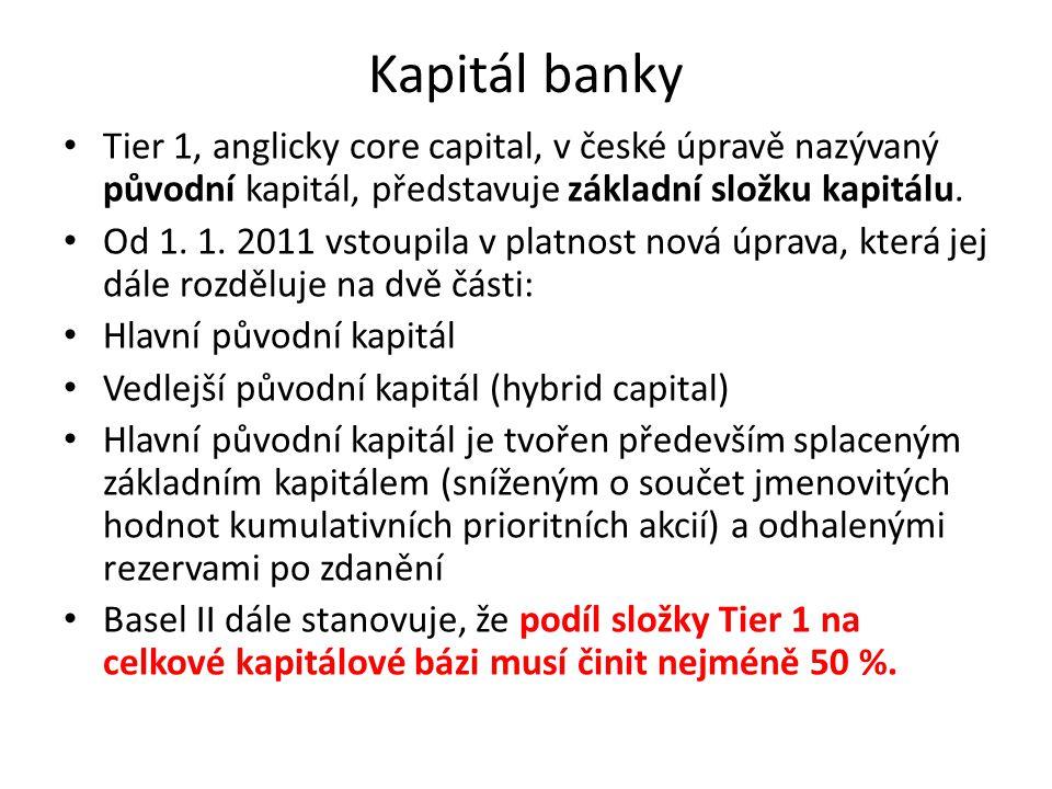 Kapitál banky Tier 1, anglicky core capital, v české úpravě nazývaný původní kapitál, představuje základní složku kapitálu.