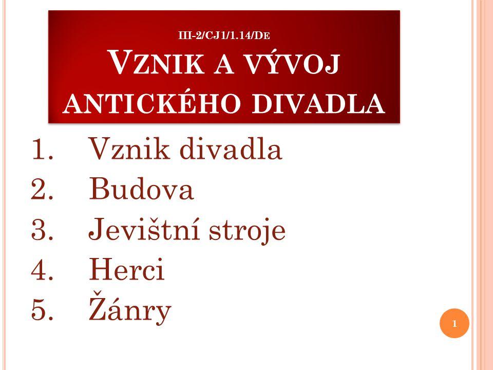 III-2/CJ1/1.14/De Vznik a vývoj antického divadla