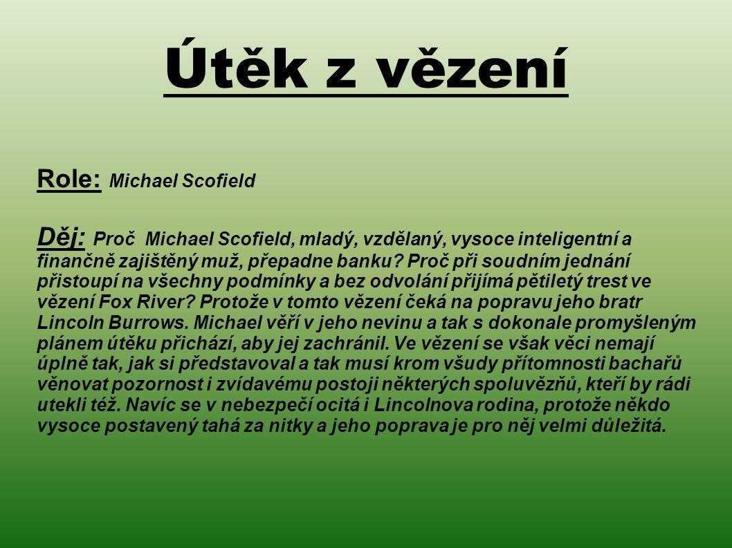 Útěk z vězení Role: Michael Scofield