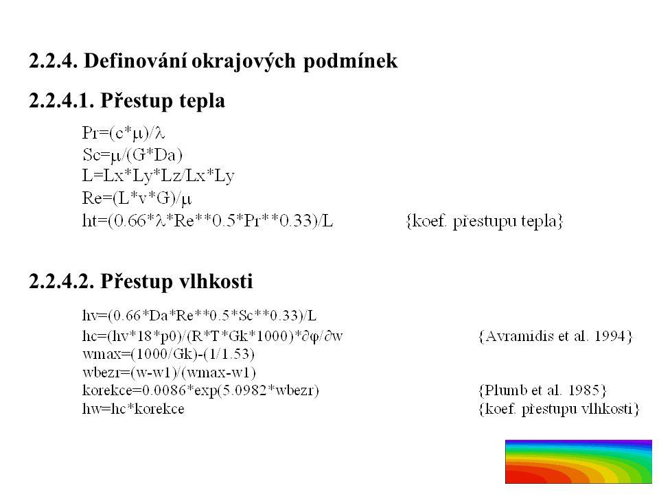 2.2.4. Definování okrajových podmínek