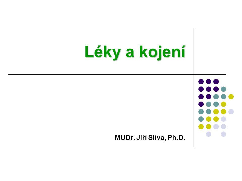 Léky a kojení MUDr. Jiří Slíva, Ph.D.