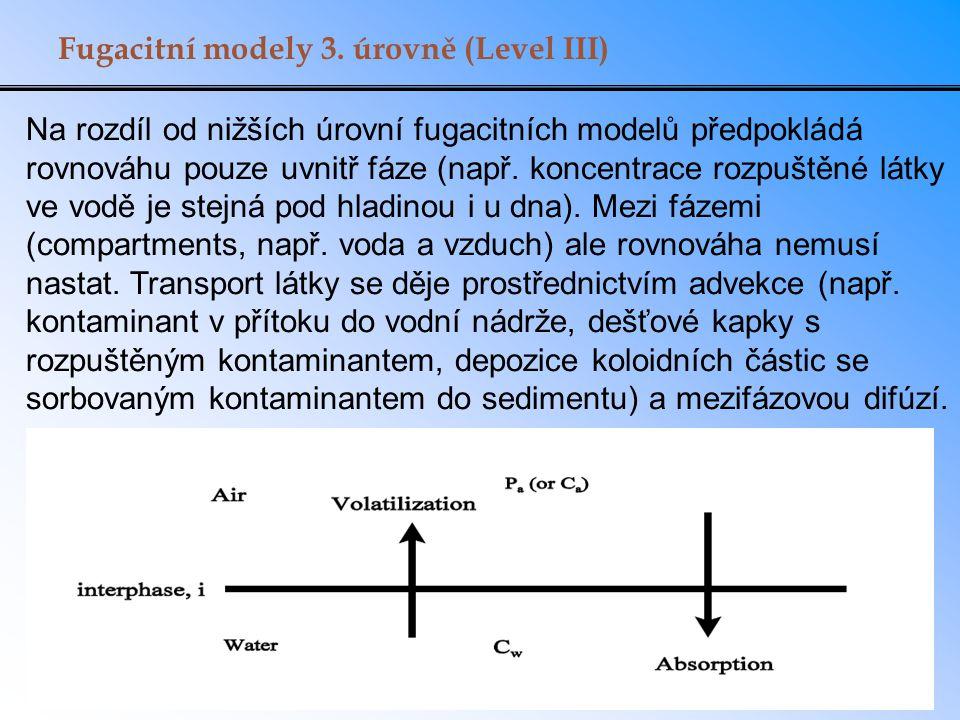 Fugacitní modely 3. úrovně (Level III)