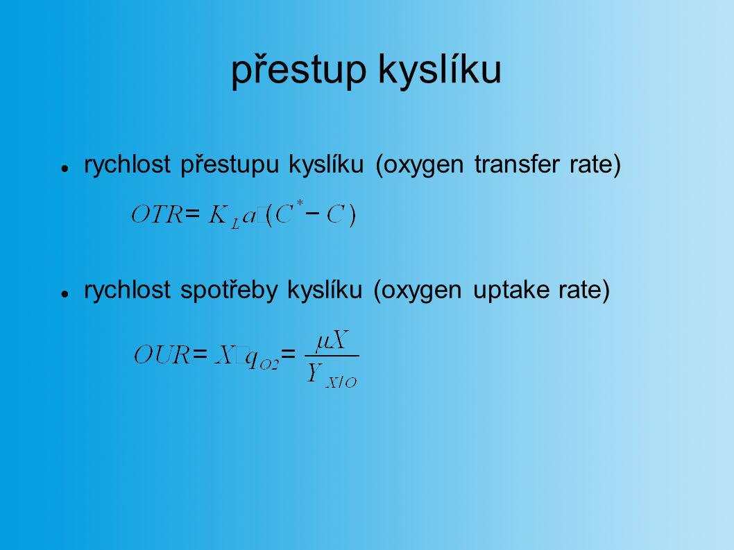 přestup kyslíku rychlost přestupu kyslíku (oxygen transfer rate)