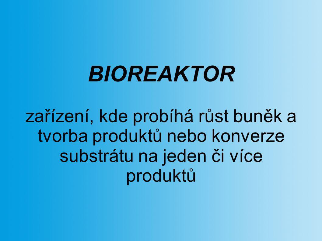 BIOREAKTOR zařízení, kde probíhá růst buněk a tvorba produktů nebo konverze substrátu na jeden či více produktů.