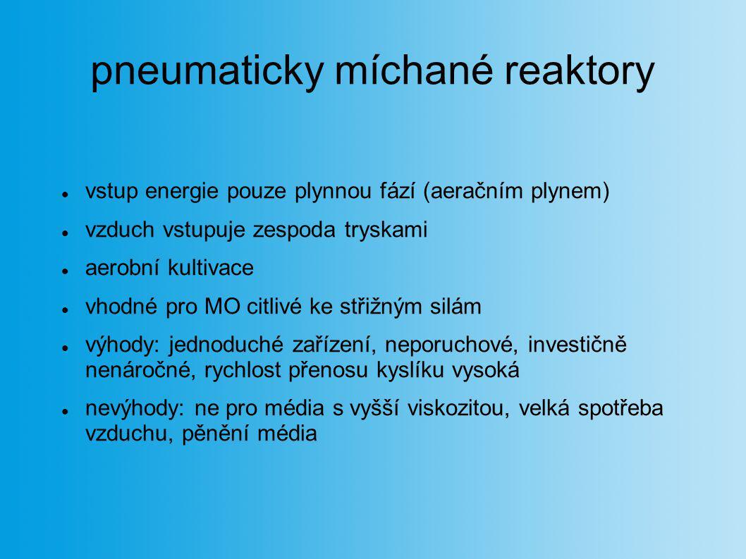 pneumaticky míchané reaktory